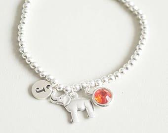 Elephant gift, Elephant Bracelet, Elephant Jewelry, Elephant charm, Elephant gifts for her, Animal gift for her, birthday gift for her,women