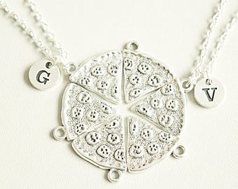 Pizza Necklace, Best Friend Necklace, BFF Gift, Pizza Friendship Necklace, One Slice, Pizza Slice, Pizza Jewelry, 2 3 4 5 6 7 8 9 10
