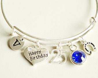 25th Birthday Gift For Women Gifts Jewelry Bracelet Sister Best Friend