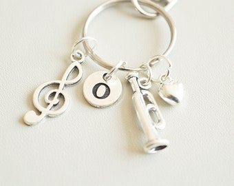 Trumpet Gifts Keyring Birthday Gift Musician Keychain For Music Lover Instruments