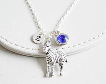 Zebra Necklace, Zebra Gift, Zebra Jewelry, Personalized Zebra , Trendy Gift for her, Trendy jewelry, Safari Necklace, Animal gift for her