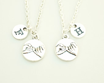 Pinky Promise Necklaces set of 2, Pinky Swear Necklace, Best friends necklace , Pinky Promise Necklace, Couples necklace set, bf gf jewelry