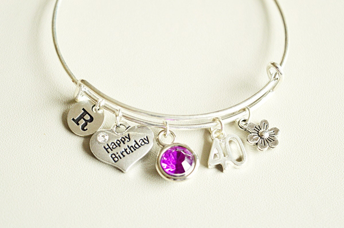 40th Birthday Gift 40th Birthday Gift For Women Women Birthday Gifts 40th Birthday Jewelry 40th Birthday Bracelet Big 40 Sister 40th