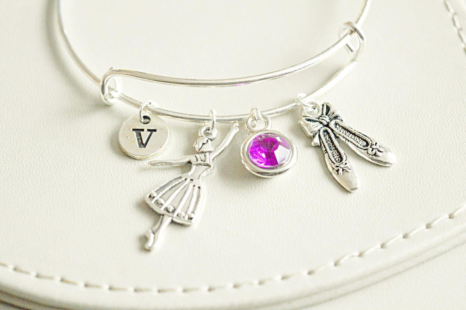 ballet gift, ballet dancer gift, ballet shoes, ballet slippers, ballet bracelet, ballerina charm, ballerina gift, ballet lover,