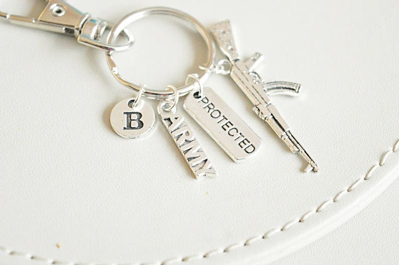 Army Key Ring Wife Gift Mom Veteran
