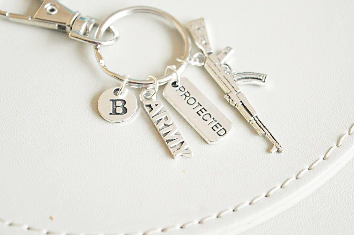 Army Key Ring Wife Gift Mom Veteran