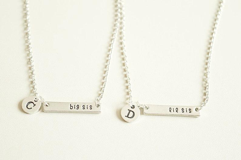 la mejor actitud 03700 0b8e4 Hermana mayor hermana hermana pequeña collar, hermanas collares, hermana  collares, regalo de hermanas, regalo para hermanas, hermana Lil Sis regalo,  ...