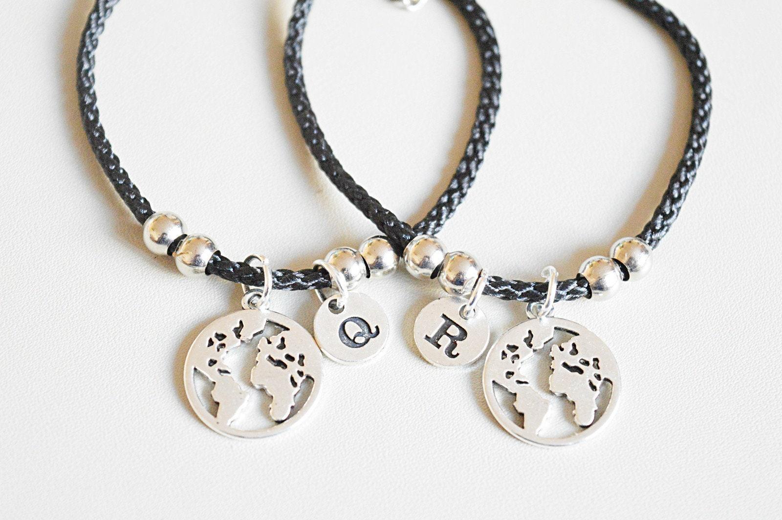 Traveler bracelet World Map Bracelet,Globetrotter Bracelet World Bracelet