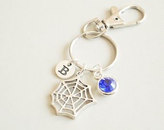 Spider web gift, Spider web keychain, Cobweb  keyring, Halloween gifts, Gifts for Spider lover,  Halloween Keychain, Halloween Key ring