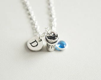 Coffee necklace, Coffee charm, Coffee jewelry, Coffee Gift, Coffee lover gift, Coffee lover, Birthday, Christmas, Coffee drinker, Italian