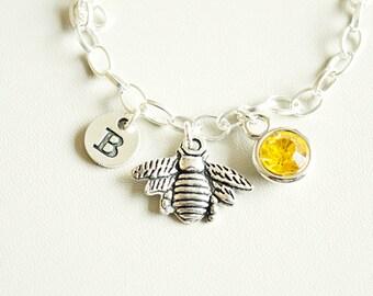 Silver Bee Bracelet, Quirky bracelet, Honey bee bracelet, honey bracelet, bee bracelet, Bumble Bee Gift,Bumble Bee Jewelry,Gift for Gardener