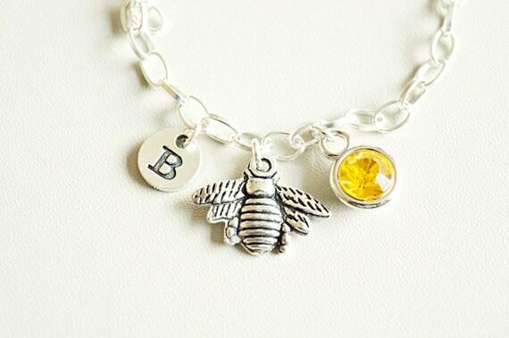 Bee Bracelet Honey Bee Bracelet Bumble Bee Sterling Silver Bracelet Sterling Silver Jewellery, Manchester Bee Jewellery Silver Bracelet