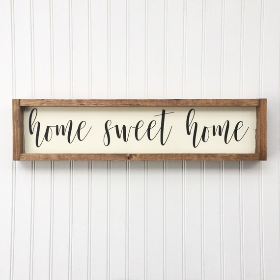 framed sign farmhouse sign wall decor modern farmhouse rustic 25 inches x 25 inches Home sweet home