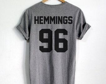 4fd141761919 Luke Hemmings shirt HEMMINGS 96 tshirt tumblr Unisex T shirts Clothing