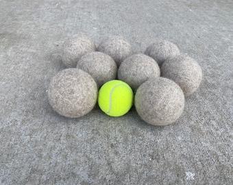 Single JUMBO EXTRA LARGE Felted Wool Dryer Balls Eco - 100% Wool - Individual wool dryer balls