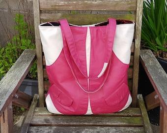 Leather Shopper Bag, Handmade Leather Bag, Hobo Bag, Recycled Leather Bag, Leather Bag, Leather Tote, Leather Handbag, Reused Leather Bag