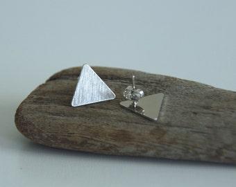 Triangle boucles d'oreilles - argent