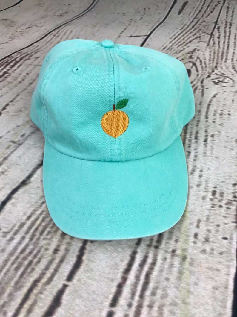 Peach hat, Peach baseball hat, Peach baseball cap, Pigment dyed hat,  Georgia peach hat, Georgia hat, Peach hat, Summer hat, Spring break cap