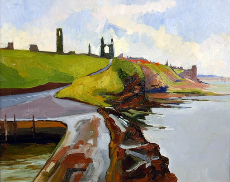 Ruins of St. Andrews a landscape painting from Scotland image 0