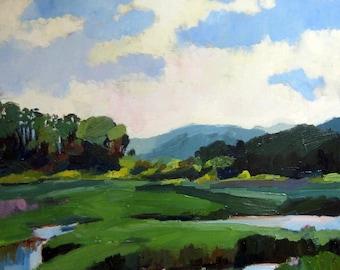 Ballston Marsh, a Cape Cod landscape oil painting