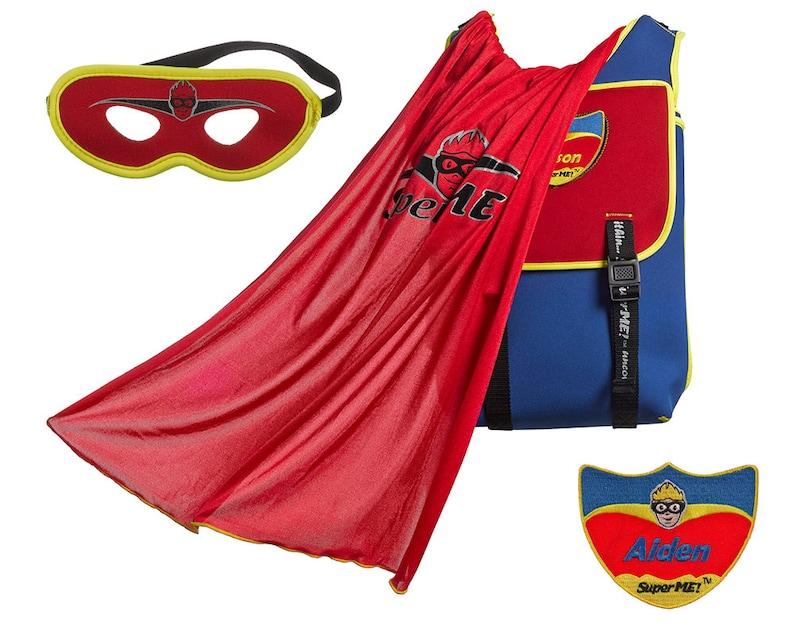 Monogrammed Superhero Cape Backpack kid backpack  249e360084a19