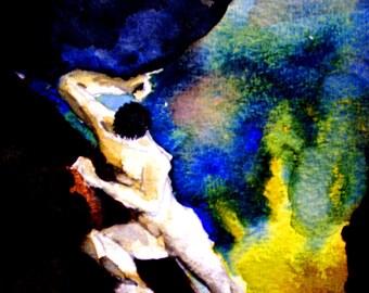 mythology narcissus greek underworld fine art painting print etsy