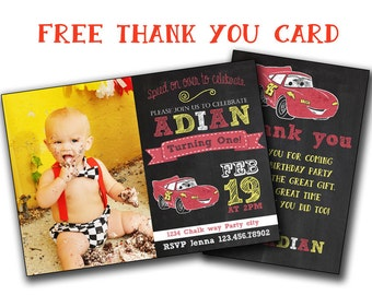 Disney Cars Birthday Invitation Tickets Ticket Style Invite
