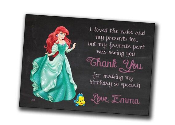 Ariel Invitation Disney Princess Invitations Little Mermaid