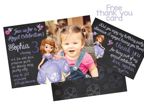 Princess Sofia Invitation The First Birthday