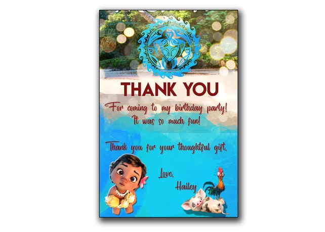 picture relating to Disney Birthday Cards Printable referred to as Boy or girl Moana Invitation,Little one Moana Birthday card,Moana