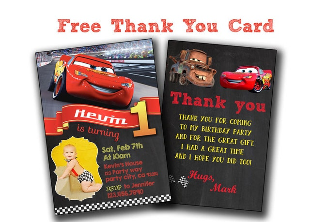 Cars Invitation Disney Cars Birthday Invitation Disney Cars