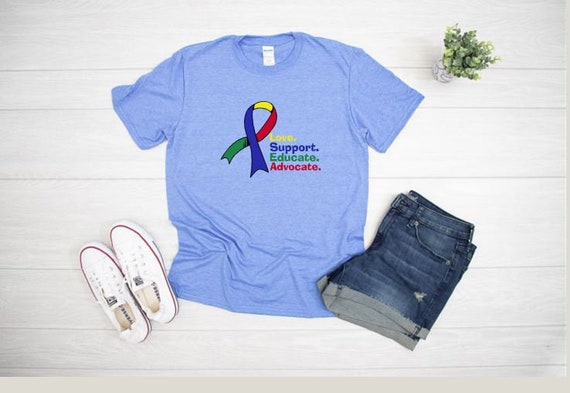 AUTISM ACCEPTANCE and Awareness, Colorful T-shirts