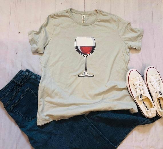 WINE GLASS, wine lover t-shirt