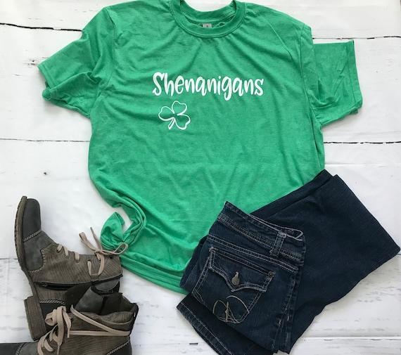 SHENANIGANS, fun, shamrock t-shirt
