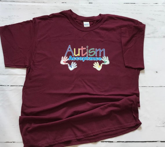 Autism Acceptance Colorful T-shirts
