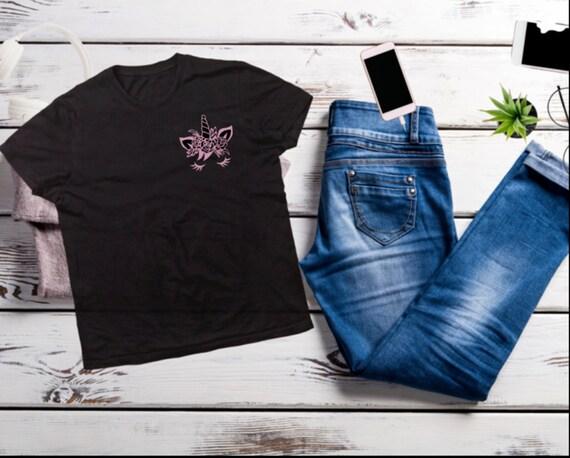 UNICORN T-shirt, SHINY PINK Unicorn T-shirt