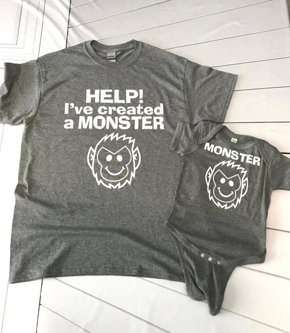MONSTER/I've created a monster Mom/Dad T-shirt and Infant Bodysuit - Matching Family Shirts