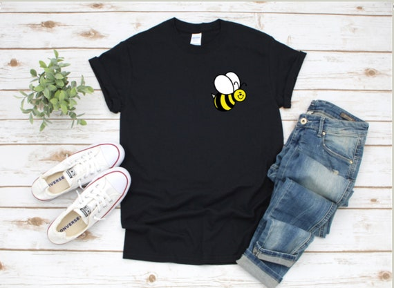 BUMBLE BEE, honey bee, Mama bee T-shirt, Colorful, cute, Left Chest Logo