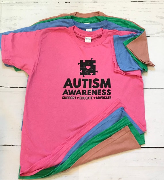 Autism T-shirt Black ink! Soft, Full of Love, Support