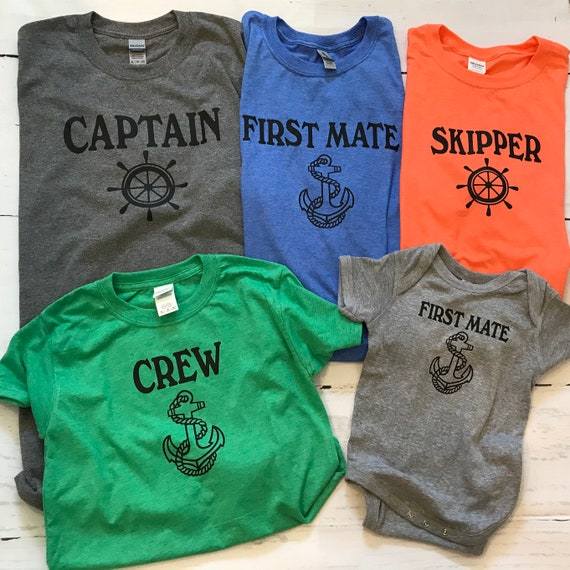Captain T-shirt, Boating shirts, First Mate and Skipper Family T-shirts