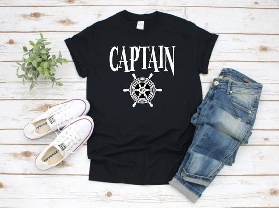 CAPTAIN, First Mate, Anchor / Boating family T-shirt,
