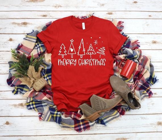 MERRY CHRISTMAS trees, holiday, fun family T-shirt's