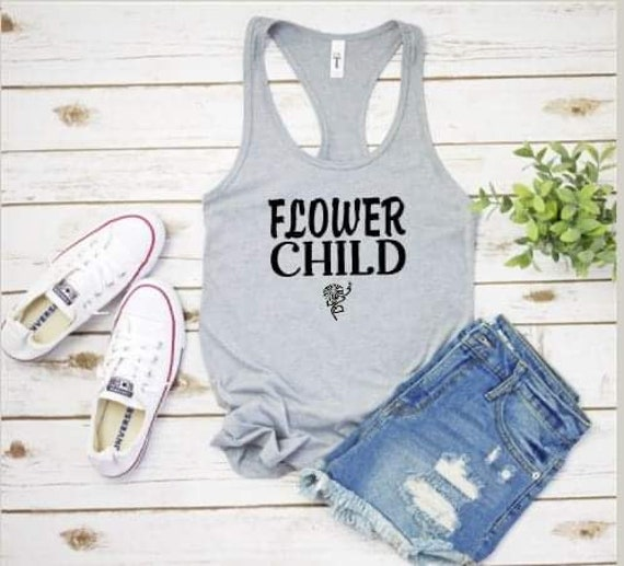 FLOWER CHILD, fun Hippie Soul, boho T-shirt
