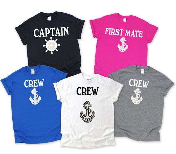 Captain Shirts, Skipper, First Mate, Deckhand, Pirate Family T-shirts