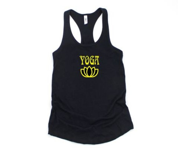 YOGA and Yoga Flower, Clearance Racer back tank or T-shirt