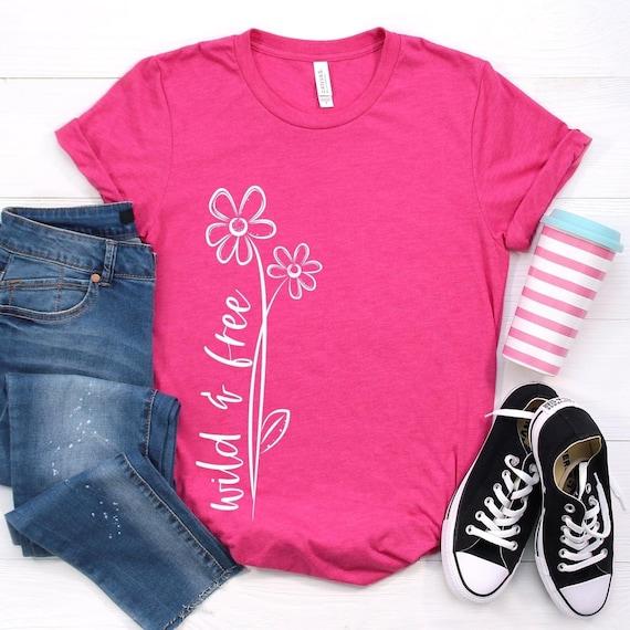 WILD & FREE, Hippie Soul, Free spirit, Fun ladies t-shirt