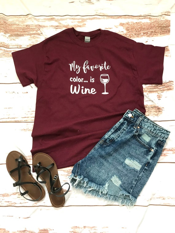 WINE Lover, My favorite color is WINE T-shirts