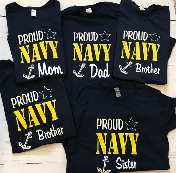 Proud Navy Family T-shirts