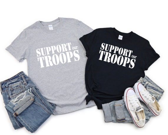 SUPPORT our TROOPS - Army, Navy, Military Solider - T-shirt