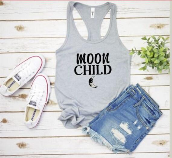MOON CHILD, Ladies Boho, Hippie Fun T-shirt